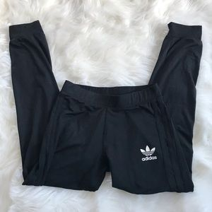 Black Adidas Joggers with Black Side Stripes